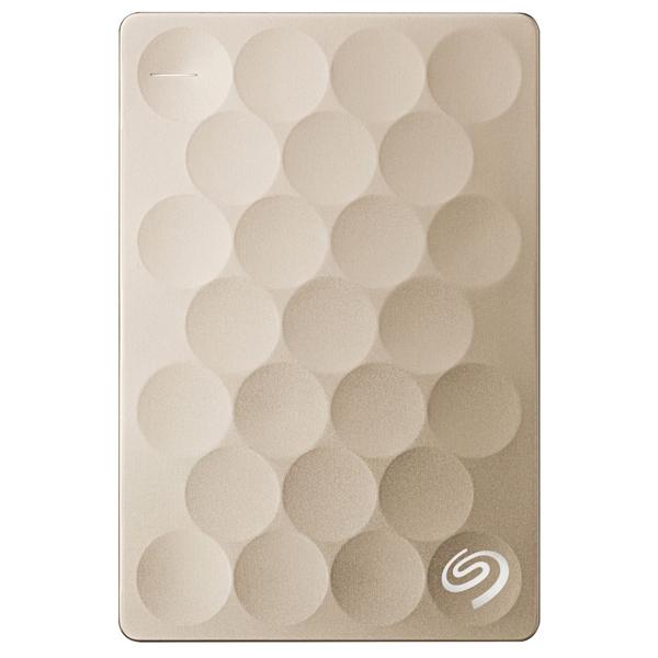 Hard Disk Drive portabil SEAGATE Backup Plus Ultra Slim STEH2000201, 2TB, USB 3.0, Gold