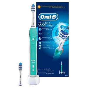 Periuta de dinti electrica ORAL-B TriZone 1000, Daily Clean Mode, 2 capete, alb-verde