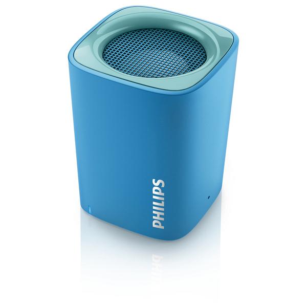 Boxa portabila PHILIPS BT100A/00, Bluetooth, Albastru