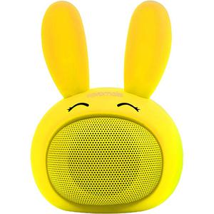Boxa portabila pentru copii, PROMATE Bunny, Bluetooth, galben