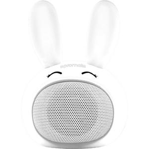 Boxa portabila pentru copii, PROMATE Bunny, Bluetooth, alb