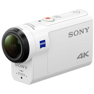 Camera video sport SONY FDRX3000RFDI+ Telecomada+ Carcasa scufundare, 4K, GPS, alb