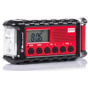 Statie de urgenta Midland ER300 C1173 cu receptor AM/FM, incarcare solara sau dinam