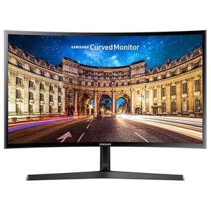 """Monitor LED VA SAMSUNG C24F396FHU, 24"""" Curved, Full HD, negru"""