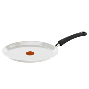 Tigaie pentru clatite TEFAL Ceramic Control Induction C9083852, 25cm, aluminiu, alb