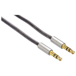 Cablu audio HAMA AluLine 115933, Jack 3.5mm, 0.5m, gri