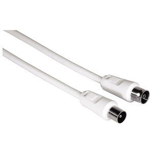 Cablu antena coaxial HAMA 11903, 10m, alb