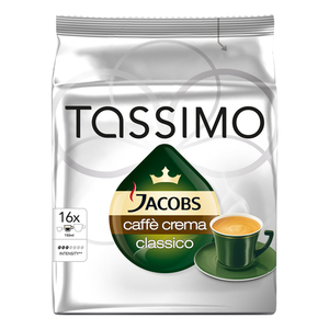 TASSIMO Jacobs Cafe Crema Classico, 16 capsule, 112g