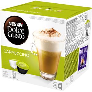 Capsule cafea NESCAFE Dolce Gusto Cappuccino, 8 capsule cafea + 8 capsule lapte, 186.4g
