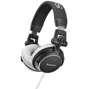 Casti SONY MDR-V55B, on ear, cu fir, negru
