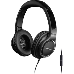 Casti PANASONIC RP-HD6ME-K, Cu Fir, On-Ear, Microfon, negru