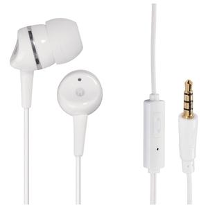 Casti HAMA 135622, Cu Fir, In-Ear, Microfon, alb