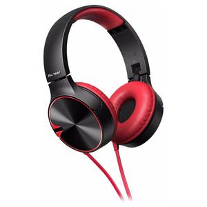 Casti PIONEER SE-MJ722T, Cu Fir, On-Ear, Microfon, negru-rosu