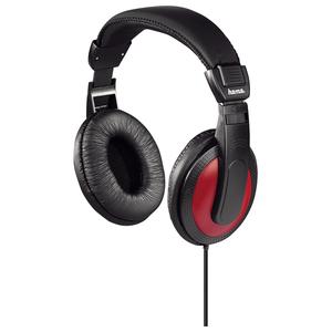 Casti HAMA HK-5618, Cu Fir, On-Ear, negru-rosu