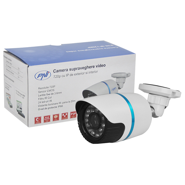 Camera supraveghere PNI IP12MP, 720p, IP interior/exterior