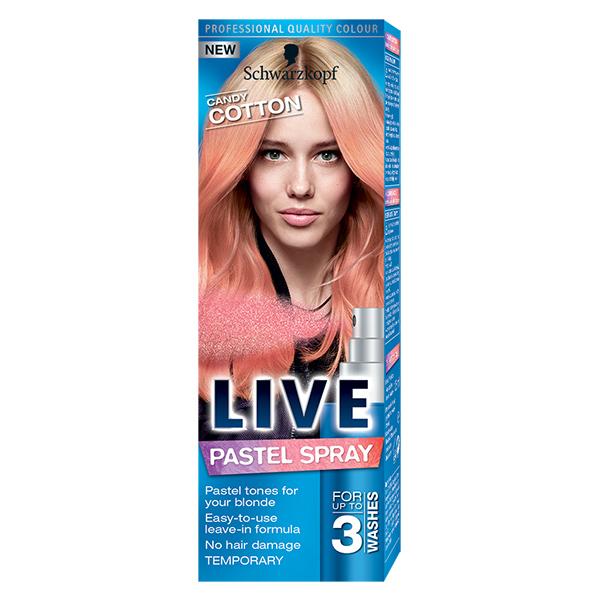 Spray Colorat Pentru Par Schwarzkopf Live Color Candy Cotton 125ml