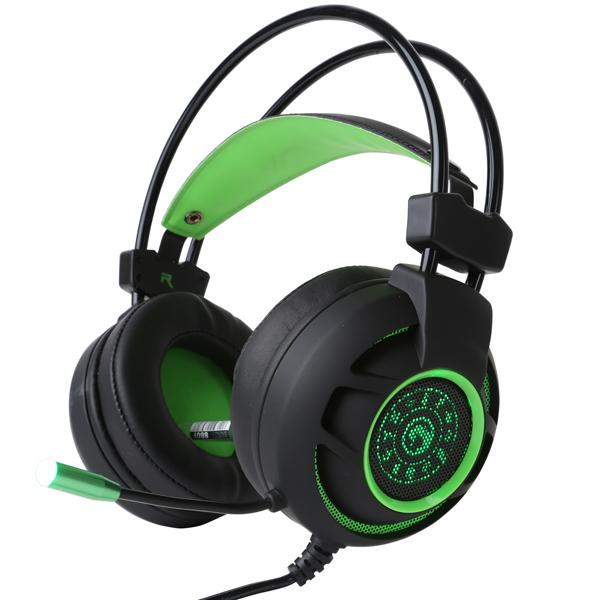 Casti Gaming MARVO HG9012, 7.1 surround, USB, negru-verde