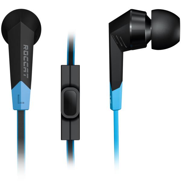 Casti Gaming in-ear ROCCAT Syva, stereo, 3.5mm, negru-albastru