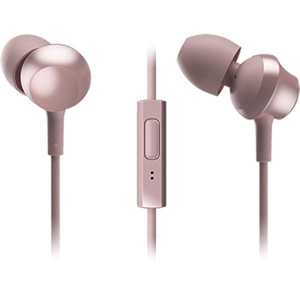 Casti PANASONIC RP-TCM360E-P, Cu Fir, In-ear, Microfon, roz