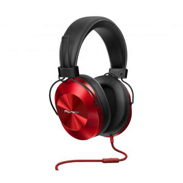 Casti PIONEER SE-MS5T-R, Cu Fir, On-Ear, Microfon, rosu