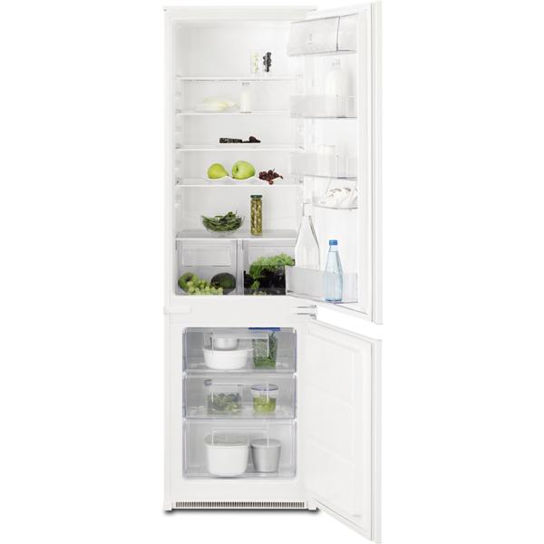 Combina frigorifica incorporabila ELECTROLUX ENN2800BOW, Low Frost, 268 l, H 177.2 cm, Clasa A+, alb