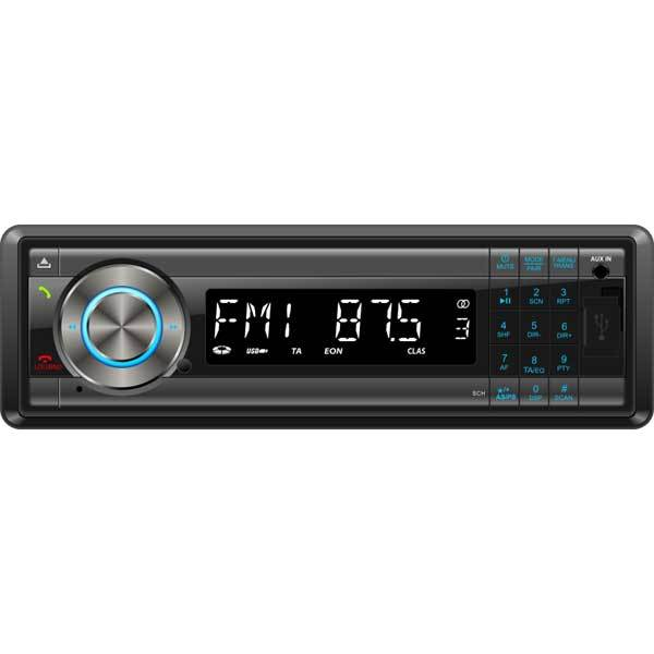 Radio MP3 auto SMAILO Easy Talk & Drive, 4x40W, USB, Card Reader, Bluetooth, iluminare albastru