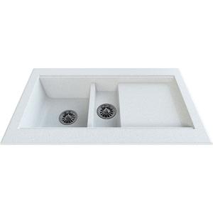 Chiuveta bucatarie GORENJE KVE 96.13, 1 1/2 cuve, picurator reversibil, compozit, alb