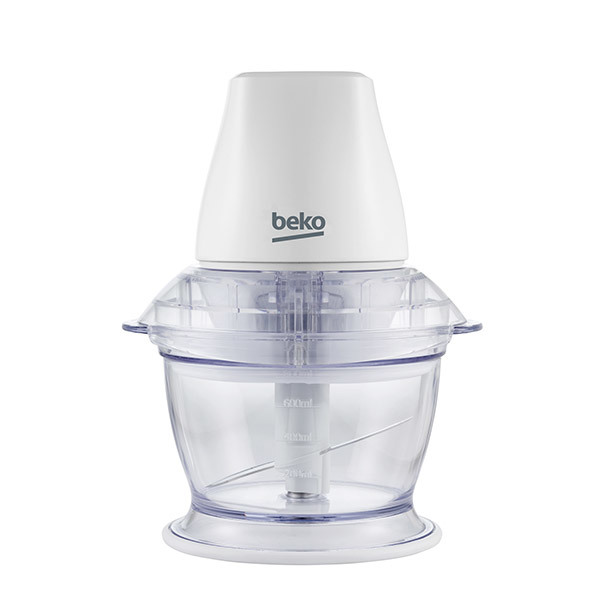 Mini tocator BEKO CHP5550W, vas plastic,1 viteza, 0.75l, 500W