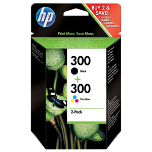 Pachet cu 2 cartuse de cerneala HP 300 CN637EE, negru/tricolor
