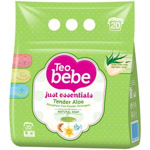 Detergent de rufe TEO BEBE Just Essentials Aloe Vera, automat, 1.5kg
