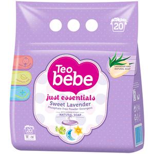 Detergent de rufe TEO BEBE Just Essentials Lavander, automat, 1.5kg