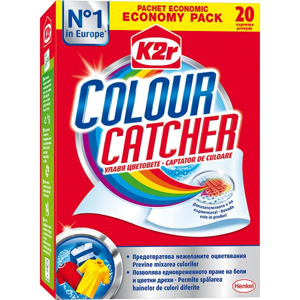 Aditiv pentru spalare K2R Color Catcher, 20 spalari