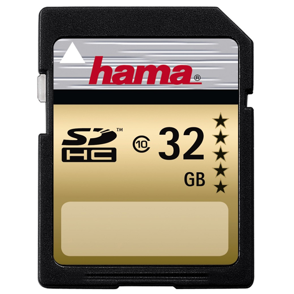 Card de memorie SD HC 32 GB HAMA 104368, R:22 MB/S
