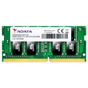 Memorie laptop ADATA 4GB DDR4, 2400MHz, CL17, AD4S2400J4G17-S