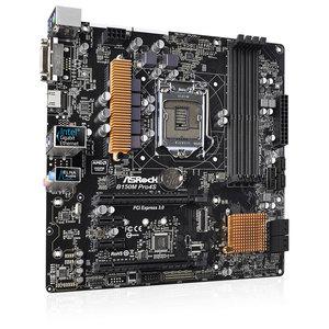 Placa de baza ASROCK B150M PRO4S, chipset B150, socket 1151, 4xDDR4, 6xSATA3, mATX
