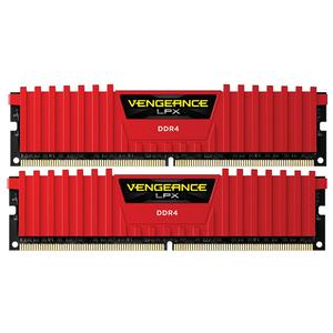 Memorie desktop Corsair Vengeance LPX Red 2x8GB DDR4, CL13, CMK16GX4M2A2133C13R