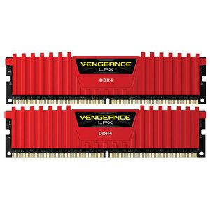 Memorie desktop Corsair Vengeance LPX Red 2x8GB DDR4, 2400MHz, CL14, CMK16GX4M2A2400C14R