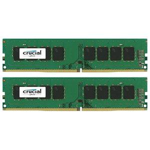 Memorie desktop Crucial 2x8GB DDR4, 2400MHz, CL17, CT2K8G4DFS824A