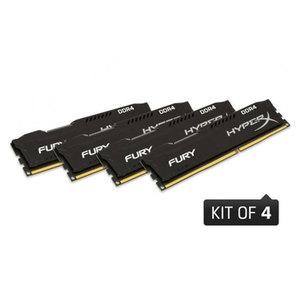 Memorie desktop KINGSTON HyperX Fury Black HX424C15FBK4/16, 4x4GB DDR4, 2400MHz, CL15