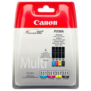 Kit cartus CANON CLI-551 Multi, Cyan / Magenta / Yellow / Black