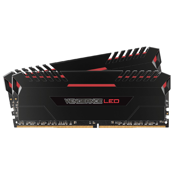 Memorie desktop Corsair Vengeance Red LED 2x8GB DDR4, 2666MHz, CL16, CMU16GX4M2A2666C16R