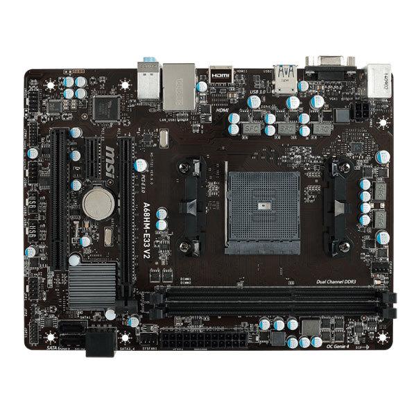 Placa de baza MSI A68HM-E33 V2, socket FM2+, A68H,  2xDDR3, 4xSATA3, mATX