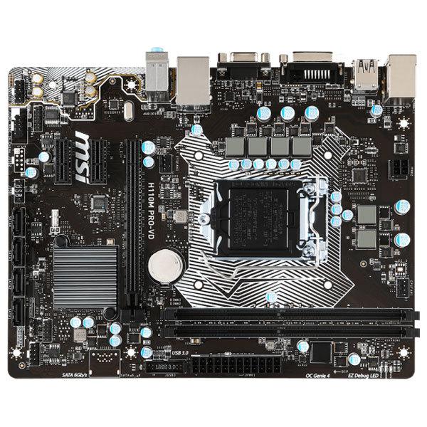 Placa de baza MSI H110M PRO-VD, socket 1151, H110,  2xDDR4, 4xSATA3, mATX
