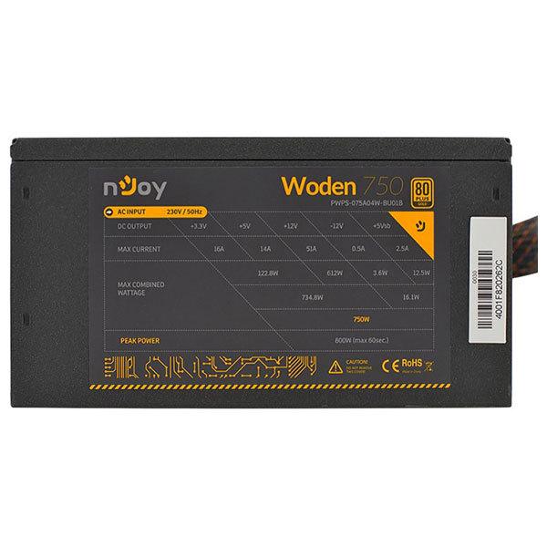 Sursa de alimentare nJoy Woden 750W, 140mm, PWPS-075A04W-BU01B