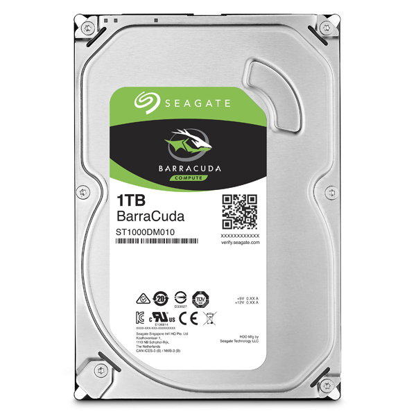 Hard Disk desktop SEAGATE BarraCuda, 1TB, 7200 RPM, SATA3, 64MB, ST1000DM010