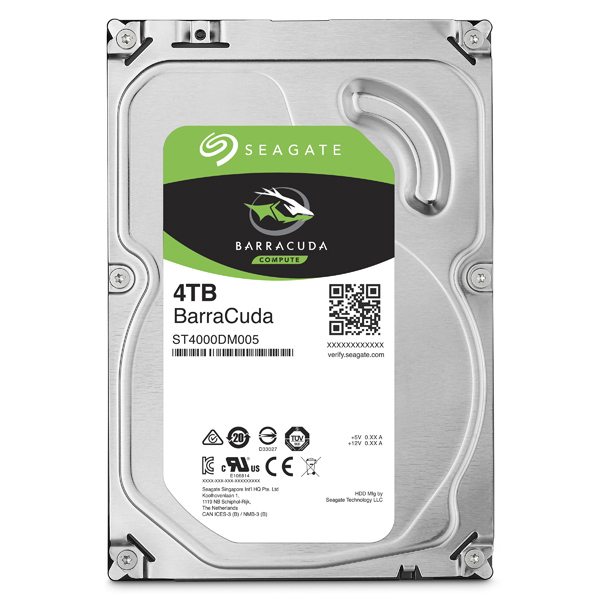Hard Disk desktop SEAGATE BarraCuda, 4TB, 5900 RPM, SATA3, 64MB, ST4000DM005