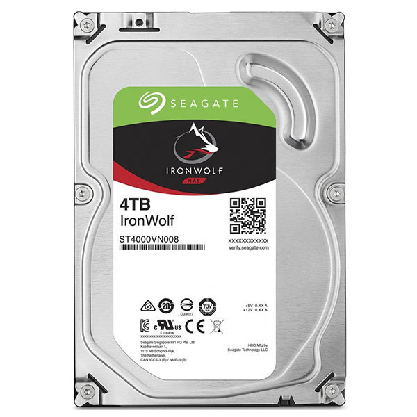 Hard Disk NAS SEAGATE IronWolf, 4TB, 5900RPM, SATA3, 64MB, ST4000VN008