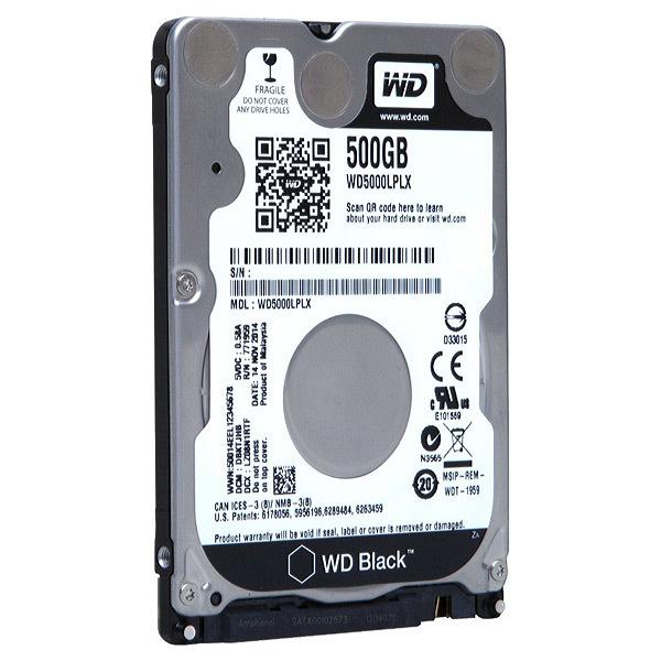 Hard Disk laptop WESTERN DIGITAL Black, 500GB, 7200 RPM, SATA3, 32MB, WD5000LPLX