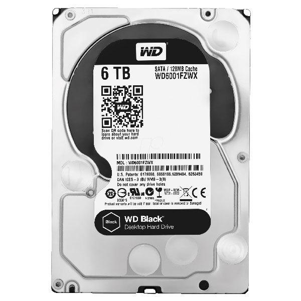 Hard Disk desktop WESTERN DIGITAL Black, 6TB, 7200 RPM, SATA3, 128MB, WD6002FZWX