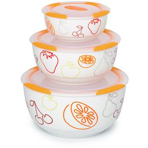 Set boluri OURSSON BS2981RC/OR, 3 piese, 0.3 - 1.7l, ceramic, portocaliu